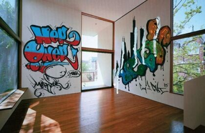 - Habitaciones con graffitis ...