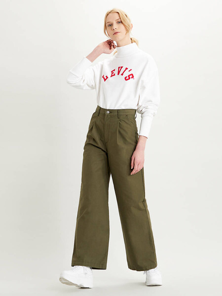 Pleated High Loose Jeans