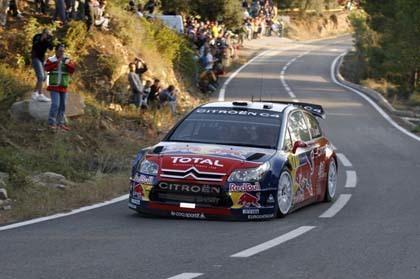 Citroën y Loeb comienzan fuerte en el Catalunya