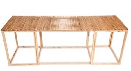 Una mesa abanico que cambia de forma