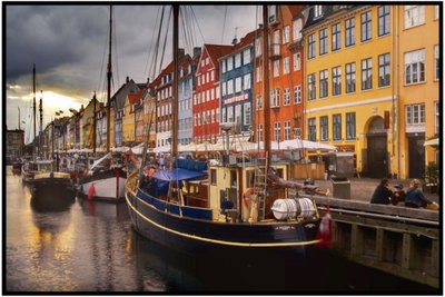 Copenhague: Nyhavn, una calle de postal