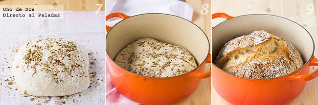 Receta de pan casero sin amasado paso a paso