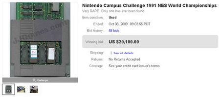 Se pagan 20.100 dólares en eBay por un juego de NES, convirtiéndolo en el más caro de la historia