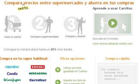 Carritus, un comparador de compras para supermercados