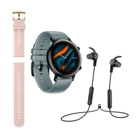 El nuevo reloj de Huawei, más barato y con regalo en El Corte Inglés: Huawei Watch GT 2 Sport con correa y cascos por 199 euros