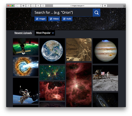 Más de 140.000 imágenes, vídeos y audios habilitados por la NASA