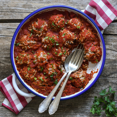 Albóndigas puercoespín: receta tradicional estadounidense ideal para las comidas familiares