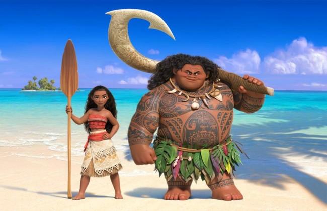 Nueva imagen de los protagonistas de 'Moana'
