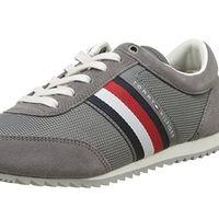Zapatillas Tommy Hilfiger Corporate Material Mix Runner en gris por 47,90 euros con envío gratis en Amazon