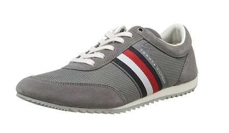 Zapatillas Tommy Hilfiger Corporate Material Mix Runner en gris por 47,90 euros con envío gratis en Amazon
