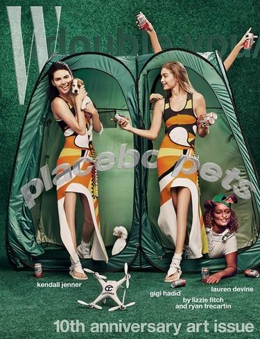 Que alguien me explique las portadas de W Magazine con Gigi Hadid y Kendall Jenner