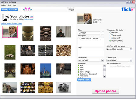Beta de flickr uploader 3.0