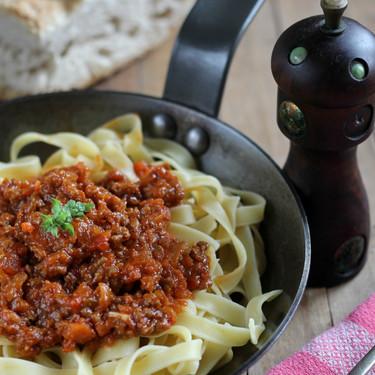 La receta de la salsa boloñesa auténtica