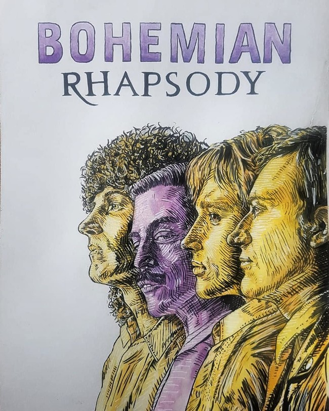 'Bohemian Rhapsody' está llenando Instagram de bigotes gracias al fanart de Queen