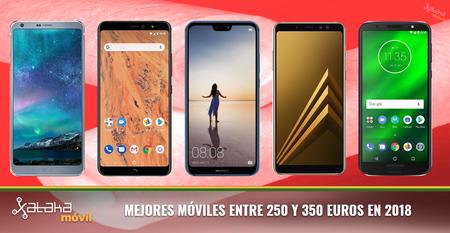 Los mejores móviles de gama media/alta alrededor de 300 euros en 2018