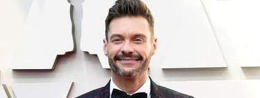 Ryan Seacrest apuesta por un smoking floral para la alfombra roja de los Óscar