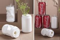 Recicladecoración: jarrones hechos con latas de refrescos