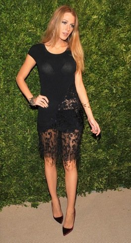 Blake Lively look transparencias