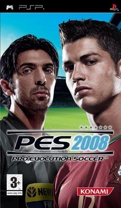 PES 2008 PSP portada