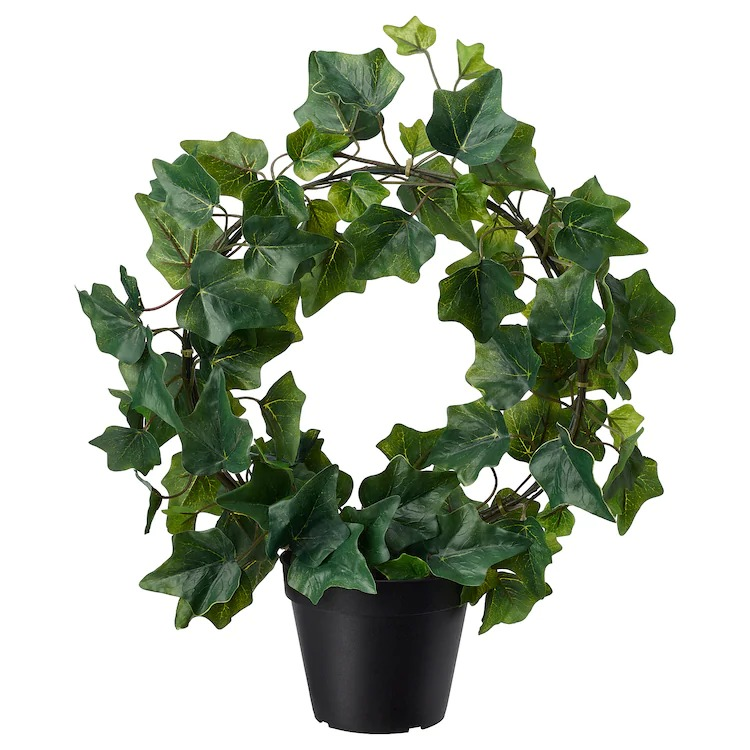 FEJKA Planta artificial, int/ext, Hiedra arco, 12 cm