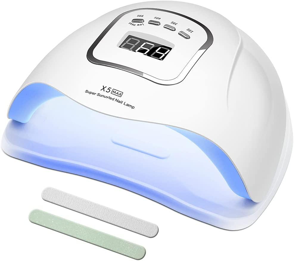 Lámpara Led Uñas UV LED 150 W Curado de Esmalte de Gel Lámpara Secador de Uñas Rápido con Función de Temporización - 10S / 30S / 60S / 99S Para Manicura/Pedicure Nail Art Hogar el Salón