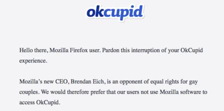 """OkCupid: """"El CEO de Mozilla se opone a la igualdad de derechos en parejas gay"""""""