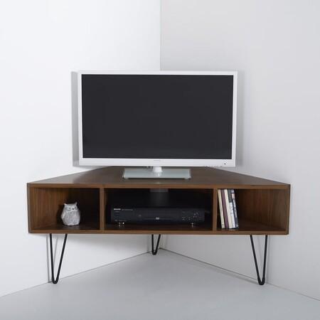 Mueble de televisión de esquina