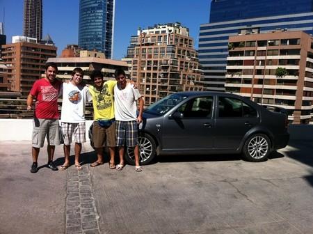 Rodrigo, Felipe, Matías y Nicolás