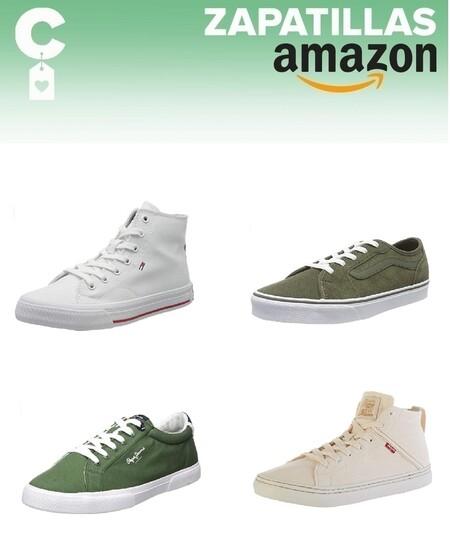 Chollos en tallas sueltas de zapatillas Tommy Hilfiger, Levi's y Pepe Jeans en Amazon