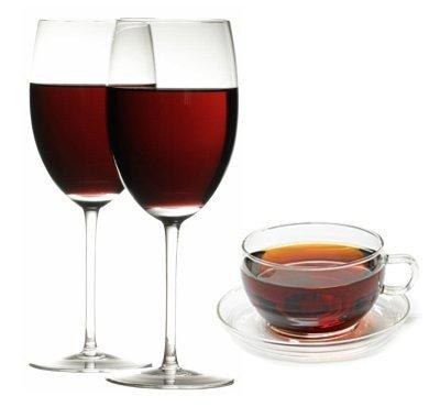 Vino tinto y té negro para controlar la diabetes tipo 2