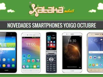 Precios Huawei G8, Huawei Y6, Galaxy J5, LG Wine smart y ZTE Blade A460 con Yoigo