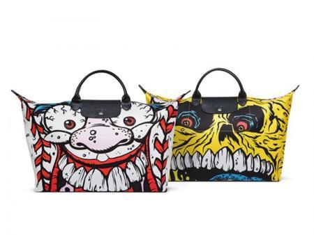 Jeremy Scott diseña una edición limitada del bolso de viaje Le Pliage de Longchamp
