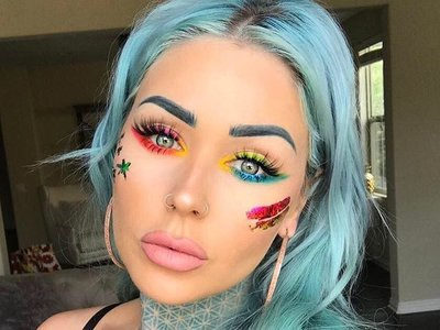 13 propuestas de maquillajes muy coloridas para deslumbrar en  Coachella y cualquier festival que se precie