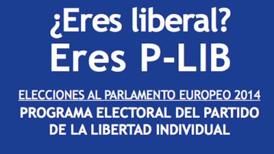 Programa del P-Lib (Partido de la Libertad Individual) para las Elecciones Europeas del 25 de mayo