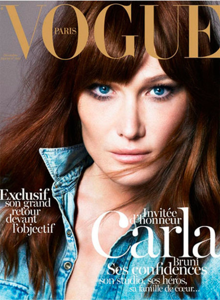¡Ahora toca currar! Carla Bruni de vuelta a Vogue