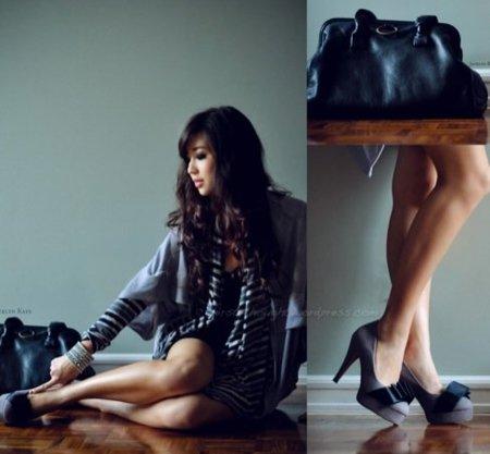 Streetstyle moda a rayas: vestidos strapless