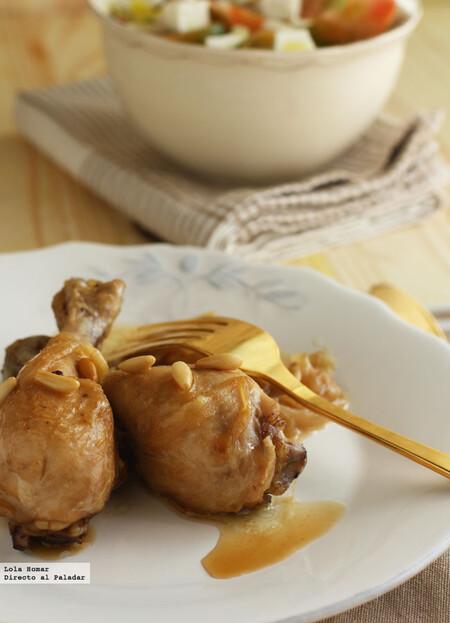 Pollo al vino dulce, receta familiar fácil y deliciosa
