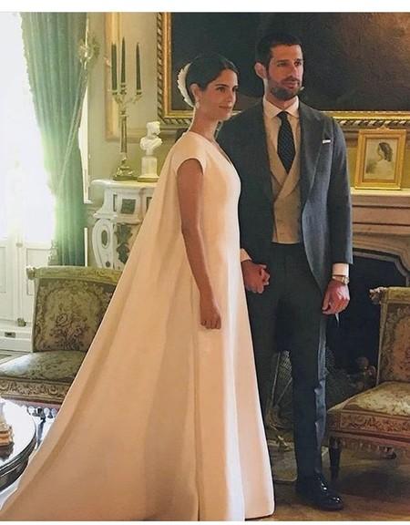 Sofía Palazuelo y Fernando Fitz-James Stuart y Solís ya son marido y mujer. Así es el vestido de la novia
