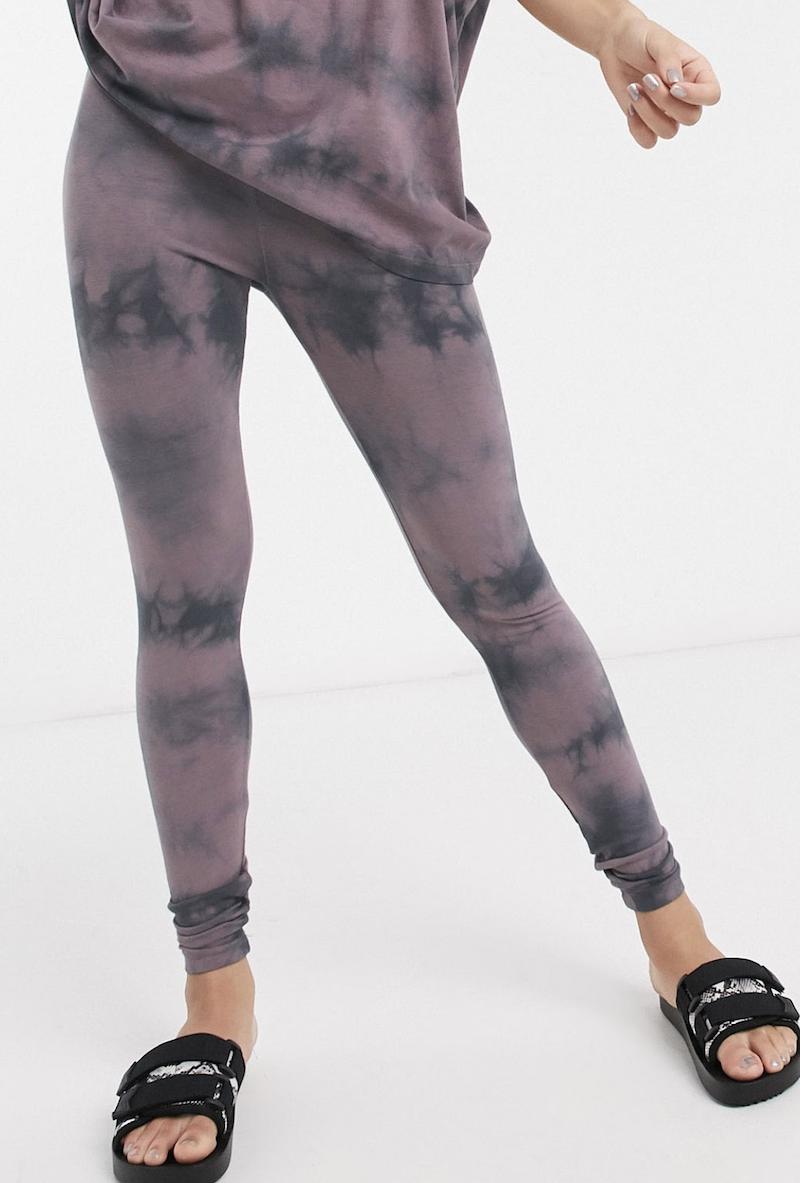 Leggings efecto teñido anudado a tono de ASOS DESIGN