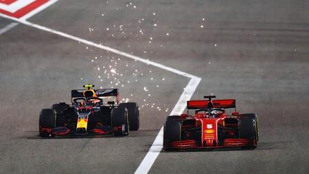 Vettel Albon Sakhir F1 2020
