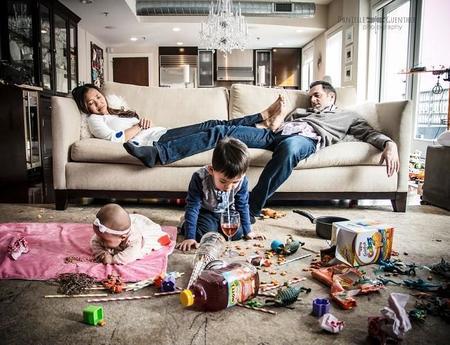 Desternillantes fotografías sobre el caos de la vida con niños