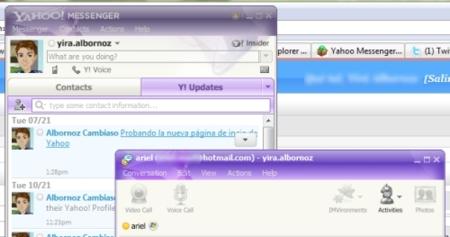 Yahoo Messenger 10, vistazo
