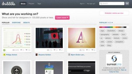 Dribbble, comparte tus diseños en una simple imagen de 400 x 300 píxeles