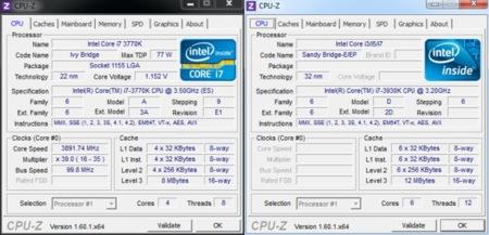 CPUz comparativa Core i7