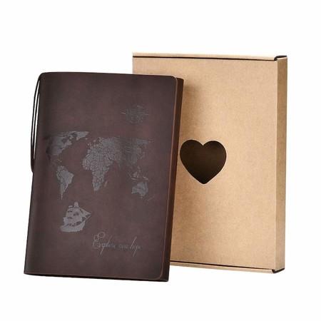 SEEALLDE A5 Cuaderno de Cuero