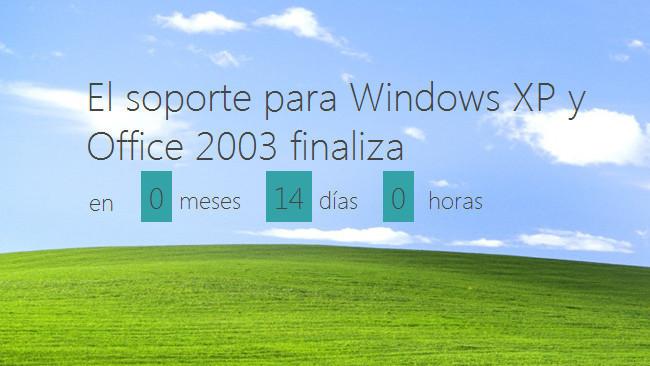 Recordatorio: quedan dos semanas para el fin del soporte de Windows XP y Office 2003
