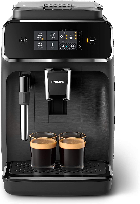 Philips EP2220/10 Cafetera superautomática, Acero Inoxidable, Negro Mate