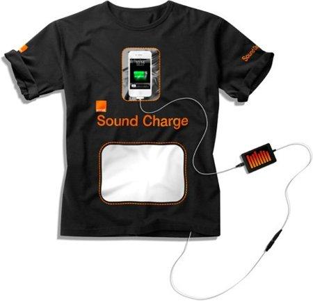 Orange lanza una camiseta para recargar el móvil en los festivales a través del sonido