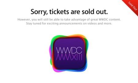 WWDC2013 todo vendido