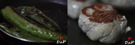 Cómo hacer un montadito de solomillo, pimiento verde y brie